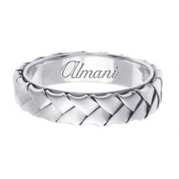 18K Gold 5mm Handmade Wedding Ring 079 Almani