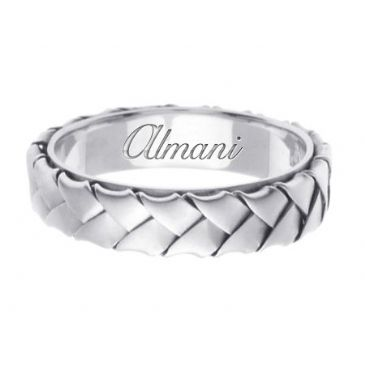 950 Platinum 5mm Handmade Wedding Ring 079 Almani
