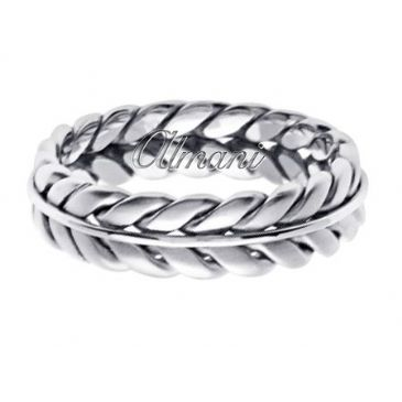 950 Platinum 6mm Handmade Wedding Ring 080 Almani