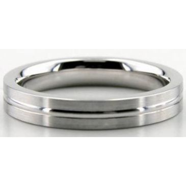 Platinum 950 Diamond Cut 643-4 Wedding Bands Rings