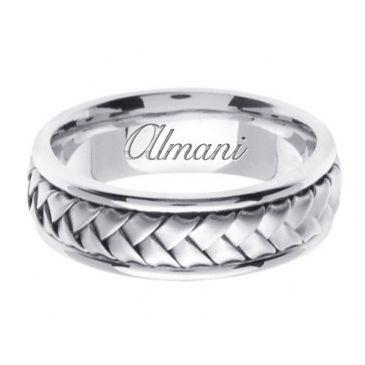 18K Gold 7mm Handmade Wedding Ring 057 Almani