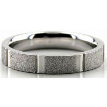 Platinum 950 4mm Diamond Cut Wedding Band 668-4