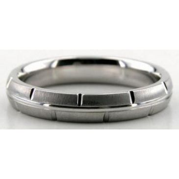 Platinum 950 4mm Diamond Cut Wedding Band 611-4