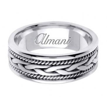 950 Platinum 7mm Handmade Wedding Ring 083 Almani