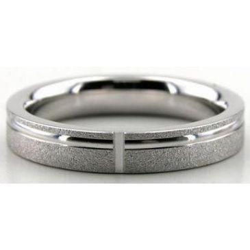 Platinum 950 4mm Diamond Cut Wedding Band 614-4