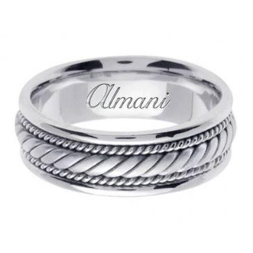 950 Platinum 7mm Handmade Wedding Ring 095 Almani