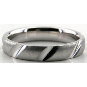 Platinum 950 4mm Diamond Cut Wedding Band 616-4