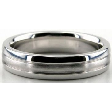 Platinum 950 5mm Diamond Cut Wedding Band 662