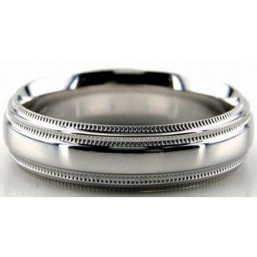 Platinum 950 6mm Diamond Cut Wedding Band 655