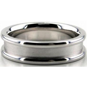 Platinum 950 6mm Diamond Cut Wedding Band 641
