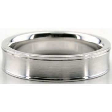 Platinum 950 5mm Diamond Cut Wedding Band 633