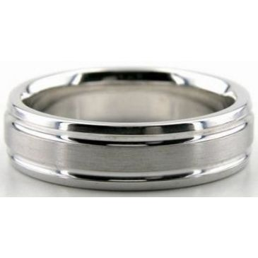 Platinum 950 6mm Diamond Cut Wedding Band 663