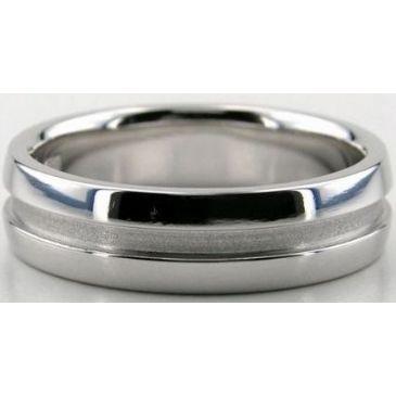 Platinum 950 6mm Diamond Cut Wedding Band 680