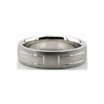 Platinum 950 6mm Diamond Cut Wedding Band 644