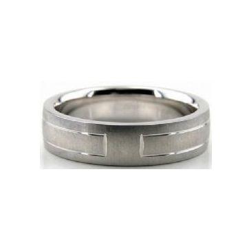 Platinum 950 6mm Diamond Cut Wedding Band 644