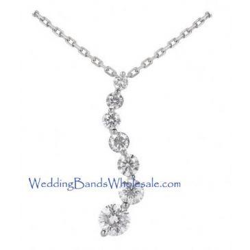 950 Platinum Diamond Journey Pendant 7 Stone 2.50 ctw. JPD1707PLT