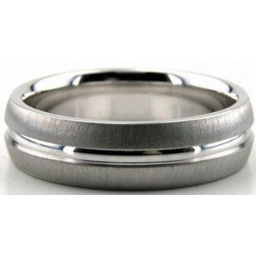 Platinum 950 6mm Diamond Cut Wedding Band 660