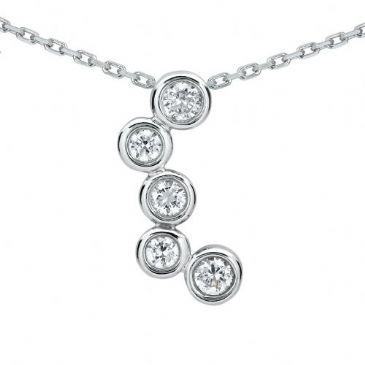 Platinum 950 Diamond Journey Pendant 5 Stone 1.00 ctw. JPD841PLT