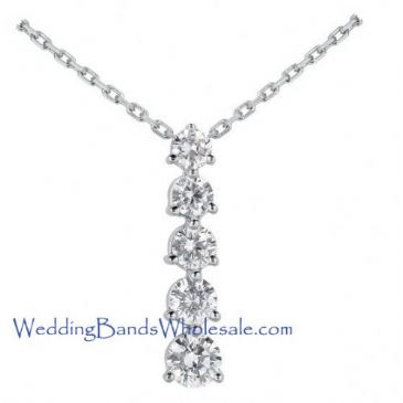Platinum 950 Diamond Journey Pendant 5 Stone 2.5 ctw. JPD1586PLT