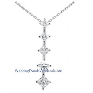 Platinum 950 Diamond Journey Pendant 5 Stone 4.10 ctw. JPD1592PLT