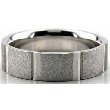 Platinum 950 6mm Diamond Cut Wedding Band 668
