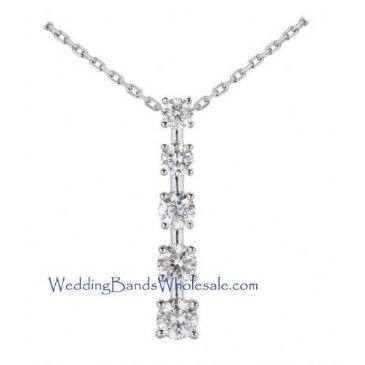 Platinum 950 Diamond Journey Pendant 5 Stone 2.50 ctw. JPD1609PLT