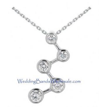 Platinum 950 Diamond Journey Pendant 5 Stone 2.00 ctw. JPD1624PLT