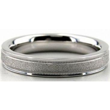 Platinum 950 4mm Diamond Cut Wedding Band 653-4