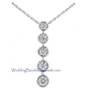Platinum 950 Diamond Journey Pendant 5 Stone 2.0 ctw. JPD1654PLT