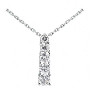 Platinum 950 Diamond Journey Pendant 5 Stone 2.0 ctw. JPD1662PLT