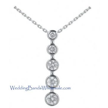 Platinum 950 Diamond Journey Pendant 5 Stone 2.0 ctw. JPD1677PLT