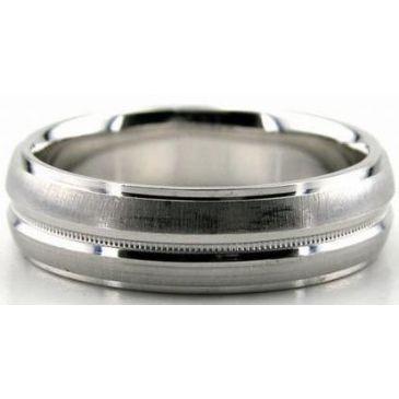 Platinum 950 6mm Diamond Cut Wedding Band 645