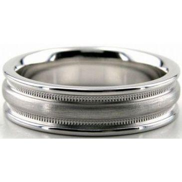 Platinum 950 5mm Diamond Cut Wedding Band 649