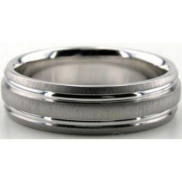 Platinum 950 6mm Diamond Cut Wedding Band 661