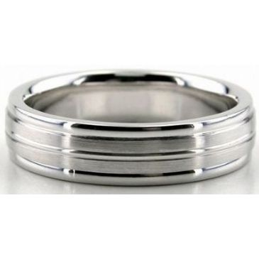 Platinum 950 5.5mm Diamond Cut Wedding Band 677