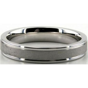 Platinum 950 4mm Diamond Cut Wedding Band 700-4