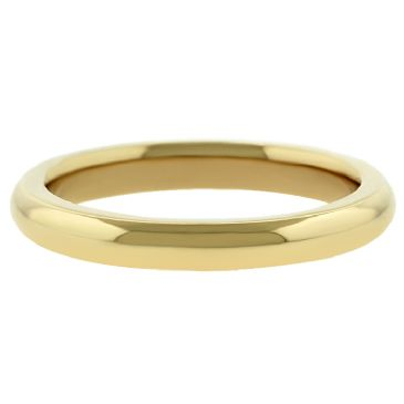 14k Yellow Gold 3mm Comfort Fit Dome Wedding Band Super Heavy Weight