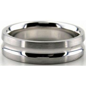 Platinum 950 6mm Diamond Cut Wedding Band 657
