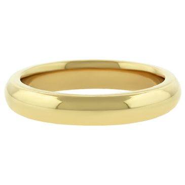 18k Yellow Gold 4mm Comfort Fit Dome Wedding Band Super Heavy Weight