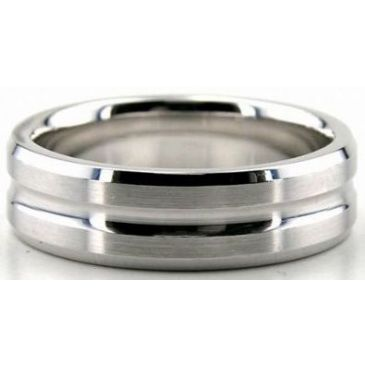 Platinum 950 6mm Diamond Cut Wedding Band 658