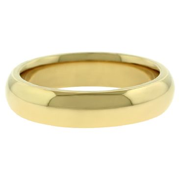 18k Yellow Gold 5mm Comfort Fit Dome Wedding Band Super Heavy Weight