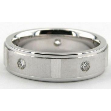 14K Gold 6mm Diamond Wedding Bands Rings 088314KS400W