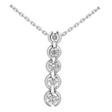 Platinum 950 Diamond Journey Pendant 5 Stone 2.00ctw. JPD1693PLT