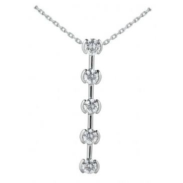 Platinum 950 Diamond Journey Pendant 5 Stone 2.50ctw. JPD1712PLT