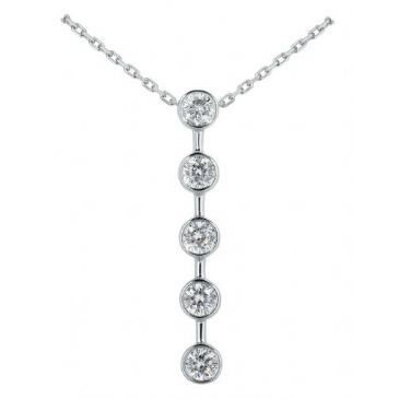 Platinum 950 Diamond Journey Pendant 5 Stone 1.75ctw. JPD1715PLT