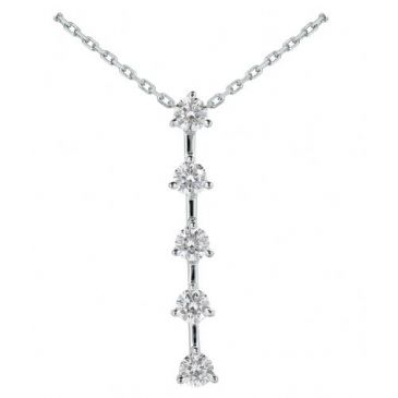 Platinum 950 Diamond Journey Pendant 5 Stone 1.75ctw. JPD1719PLT
