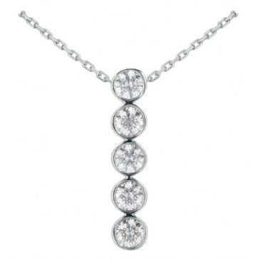 Platinum 950 Diamond Journey Pendant 5 Stone 2.50 ctw. JPD1724PLT