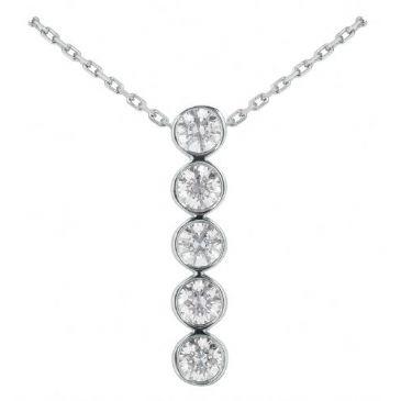 Platinum 950 Diamond Journey Pendant 5 Stone 2.50 ctw. JPD1724PLT