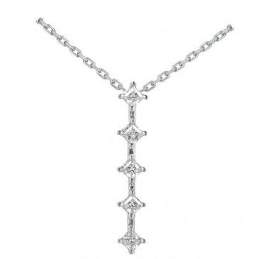 Platinum 950 Diamond Journey Pendant 5 Stone 0.80 ctw. JPD1731PLT