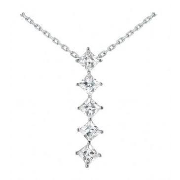 Platinum 950 Diamond Journey Pendant 5 Stone 2.50 ctw. JPD1740PLT